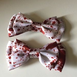 Hot Topic Bloody Print Bows